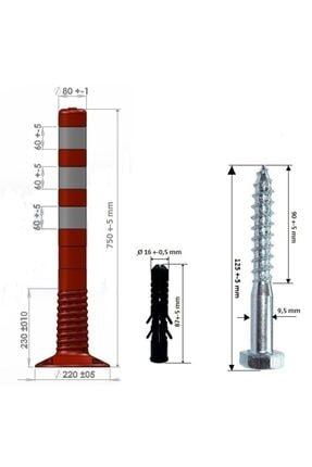 Delinatör esnek şerit ayırıcı 75 cm
